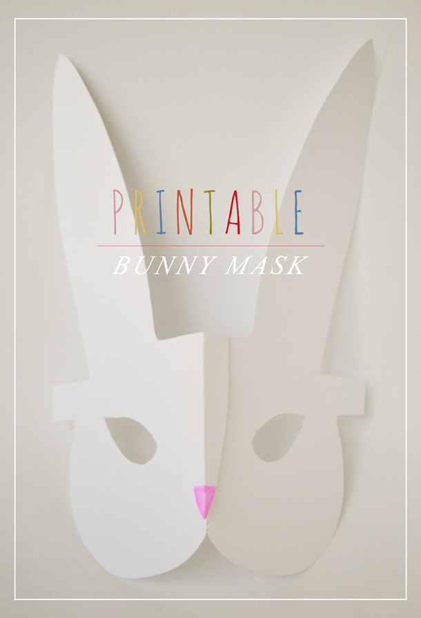 Printable Bunny Mask Craft