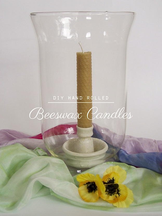 DIY Hand Rolled Beeswax Candles