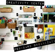 Pegboard Organization: Our Creativity Center