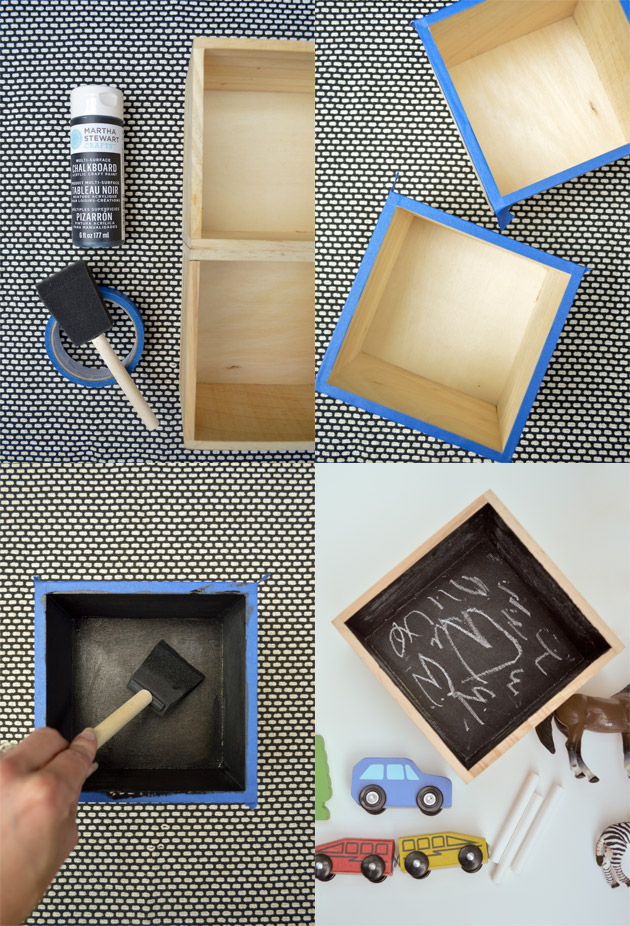Crafts for Kids: Chalkboard Shadowboxes