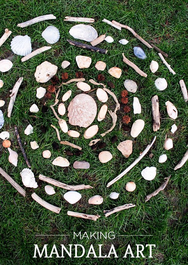 Making mandala art with kids playful learning - Mandala nature ...