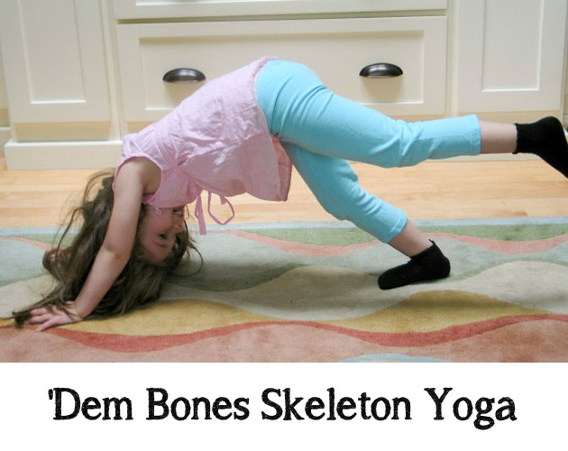 'Dem Bones Skeleton Yoga