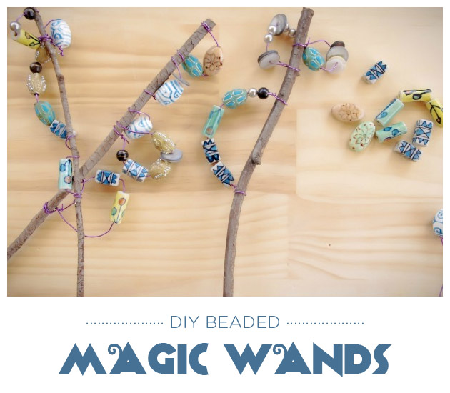 Crafts for Kids: DIY Beaded Magic Wands