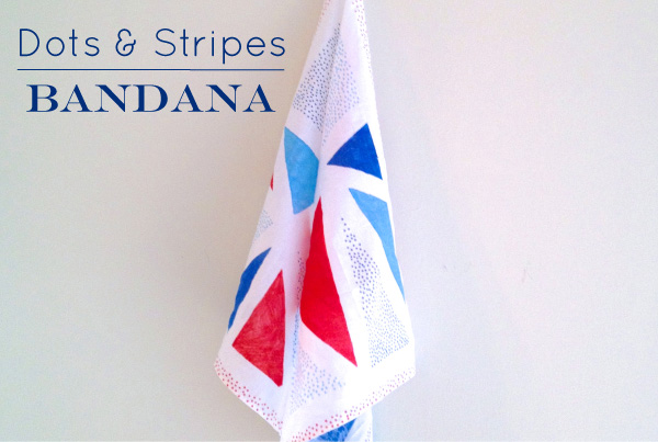 Playful Learning: Dots and Stripes Bandana