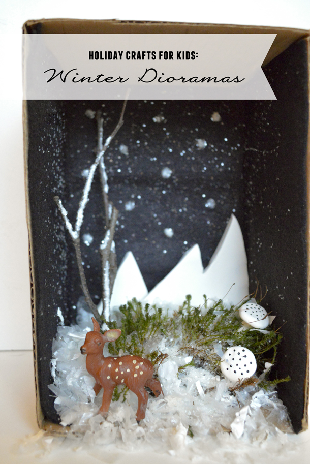 Holiday crafts with kids winter dioramas playful learning for Winter holiday crafts for kids