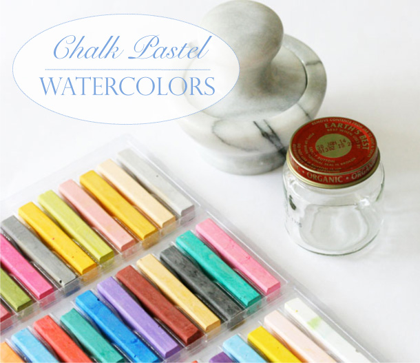 Playful Learning: Chalk Pastel Watercolors