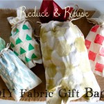 Reduce and Reuse: DIY Fabric Gift Bags