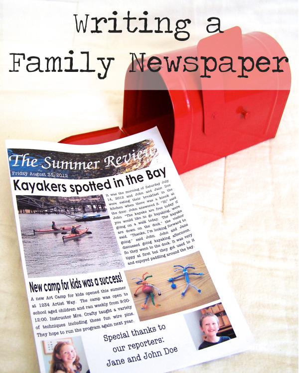 Writing newspaper articles for kids