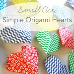 Small Acts: Simple Origami Hearts
