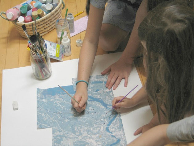 Map Painting: A Sense of Place Activity