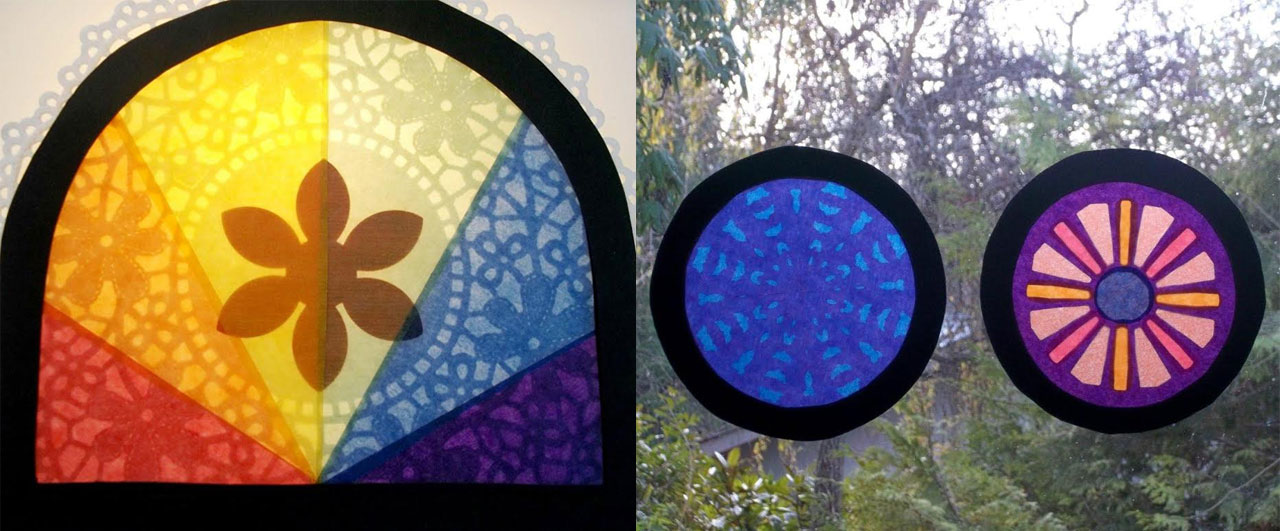 Protractor Art: Window Transparencies