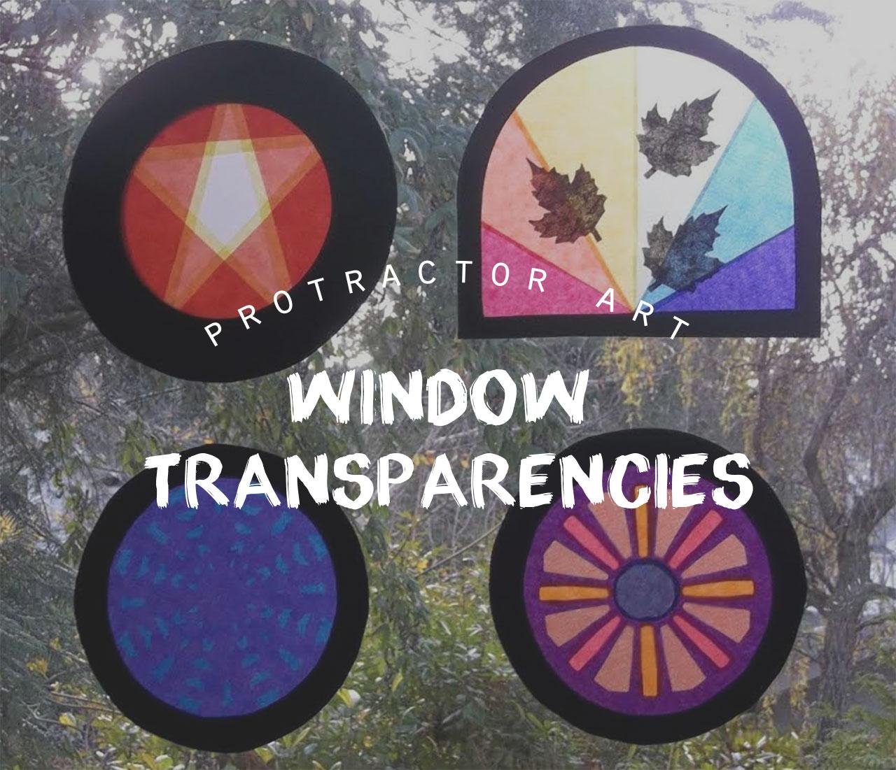 Protractor Art: Window Transparencies