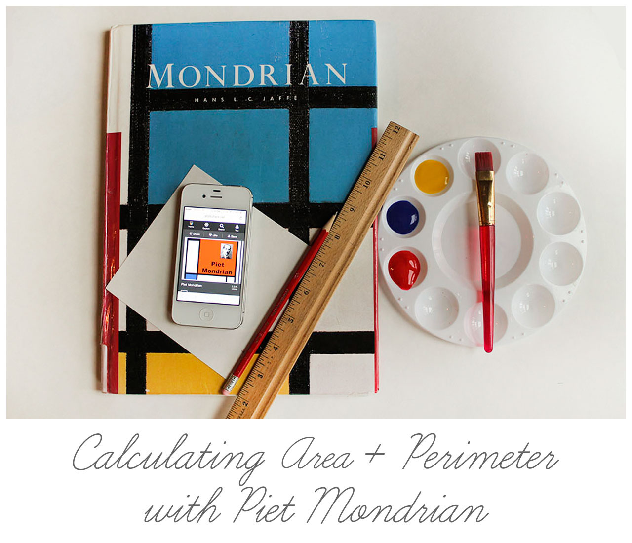 Calculating Area + Perimeter with Piet Mondrian
