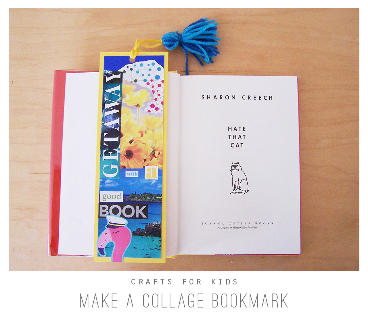 Crafts for Kids:Make a Collage Bookmark