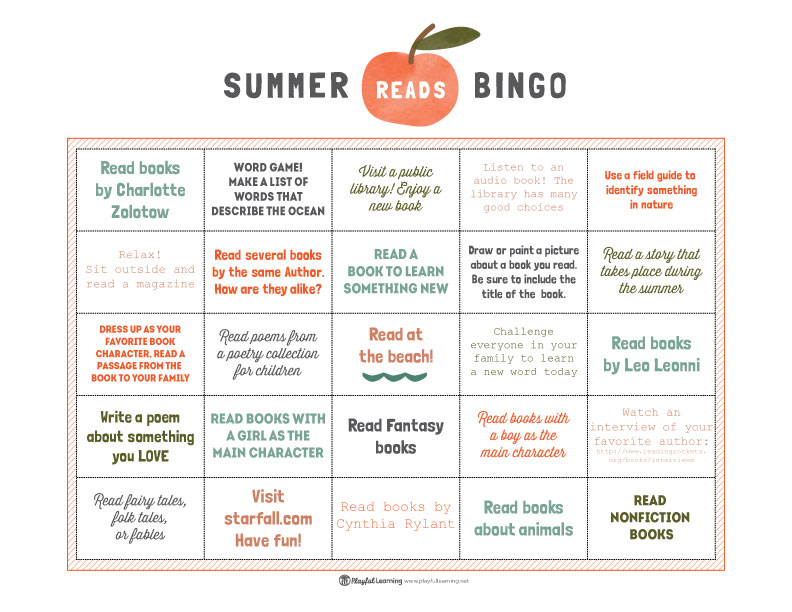 Summer Reads Bingo