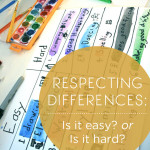 Respecting Differences: Is it Easy? Is it Hard?