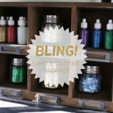 Bling! Create a Glitter Station