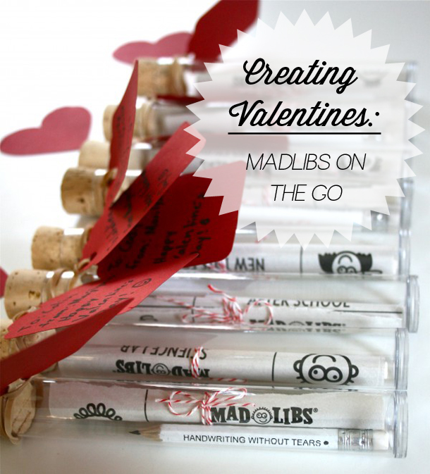Creating Valentines: MadLibs on the go