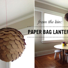 From the Bin: Paper Bag Lantern