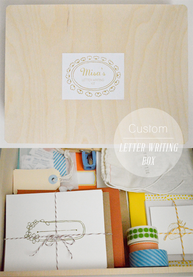 Custom Letter Writing Box