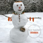 How to Make a Bird Feeder Snowman