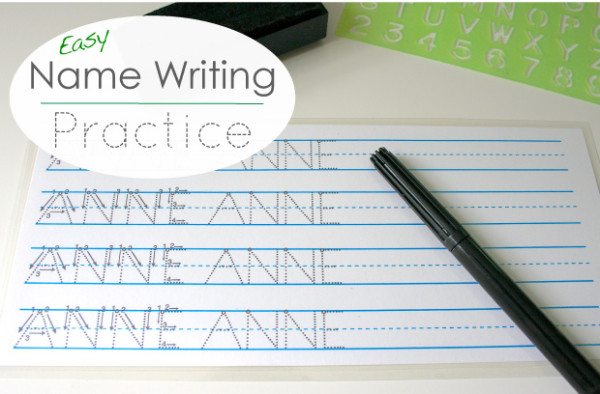 Playful Learning: Easy Handwriting Practice