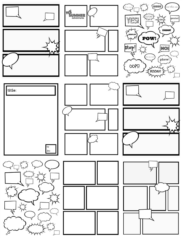 blank comic strip template printable and print comic strips and