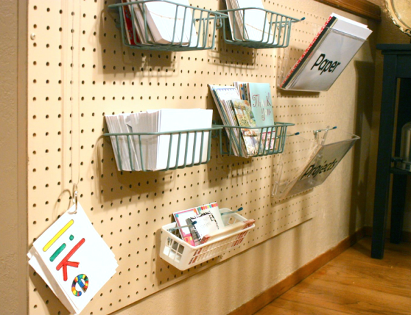 Pegboard Writing Center