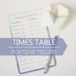 Times Table Fortune Tellers (with printable tally sheets)