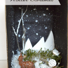Holiday Crafts with Kids: Winter Dioramas