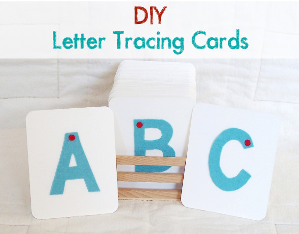 Playful Learning: DIY Letter Tracing Cards
