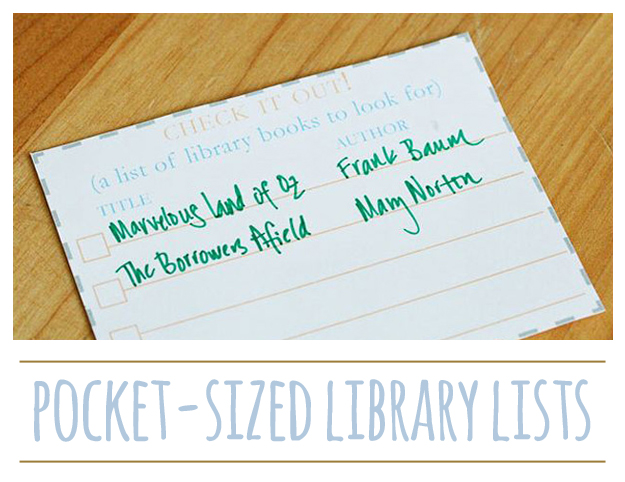 Pocket-sized Library Lists {printable}