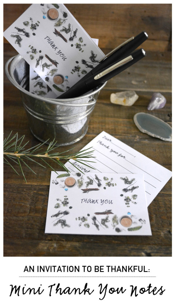 Spread the Gratitude! Mini Thank You Notes Printables...