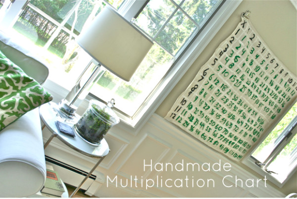 Handmade Multiplication Chart