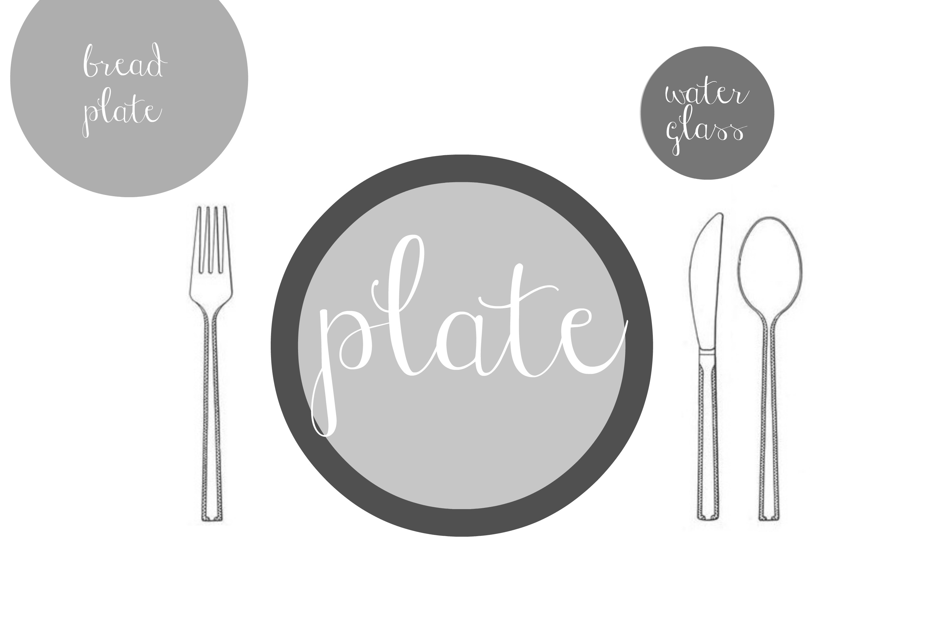 Simple Table Setting : Basic Table Setting For Kids a Basic Table Setting You