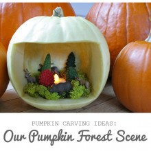 Pumpkin Carving Ideas: Our Forest Scene Pumpkin