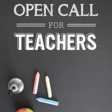 Open Call for Teachers